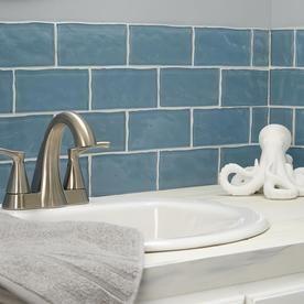 polished glass subway wall tile lowes