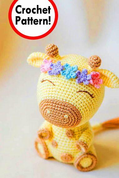 Amigurumi Pattern - Giraffe PDF Crochet Pattern - Tutorial Digital ... | 572x381