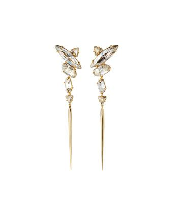 Alexis Bittar Statement Crystal Cluster Drop Earrings Drop