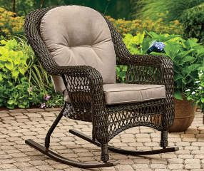 I Found A Westwood All Weather Wicker Rocker At Big Lots For Less