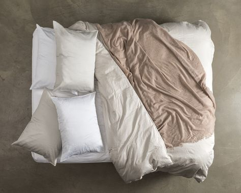 Top View - Duvet Cover Ash Sateen