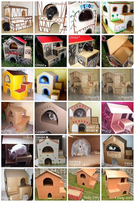 """aoudie: Tuto de la cabane """"Winnie"""" pour lapin"""