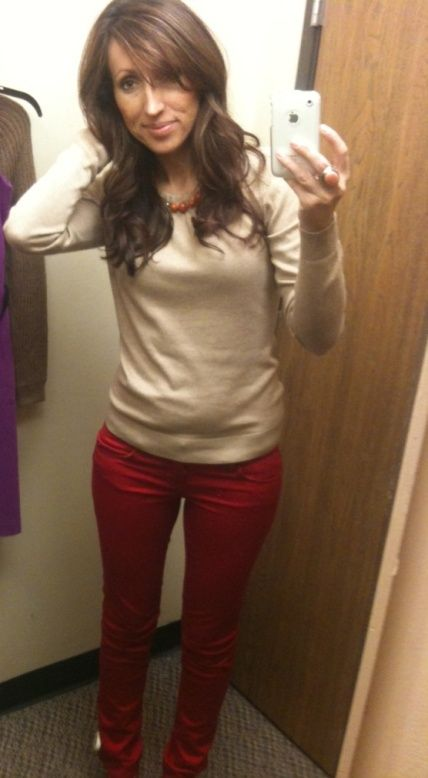 love the red pants - jcpennys!