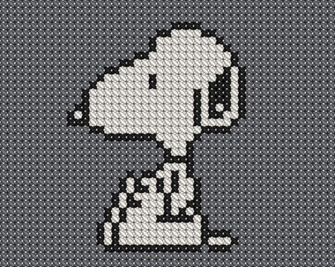 Peanuts Snoopy Irish Shamrocks Counted Cross Stitch Pattern