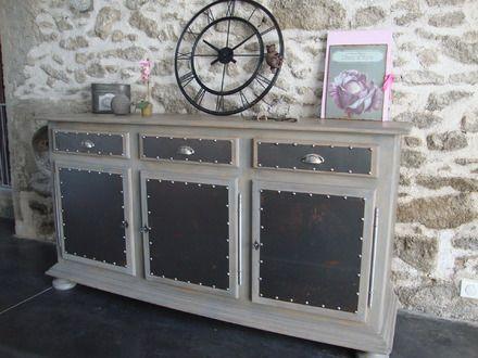 Relooker meuble bois en style industriel - Restauration meuble industriel ...
