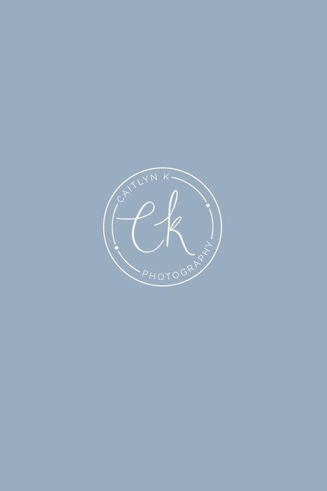Caitlyn K Photography Logo Design By Bea Bloom Creative