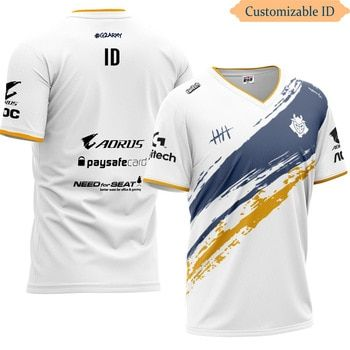 Download Lol G2 E Sports Team Uniform Jerseys Custom Id T Shirt Fans T Shirt Men Women Tshirts Custom Tee Shir Custom Tee Shirts Sports Team Uniforms Promotional Shirts