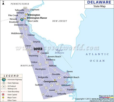 State Map Of Delaware US States Pinterest Delaware And City - Road map of delaware