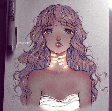 Drawing Nature Girl Kawaii 63 Ideas For 2019 Art Drawings Cartoon Artist Drawings