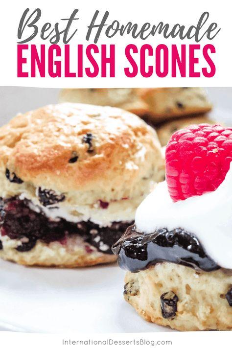 English Desserts, British Desserts, English Food, English Recipes, British Recipes, British Scones, English Scones, British Baking, British Bake Off