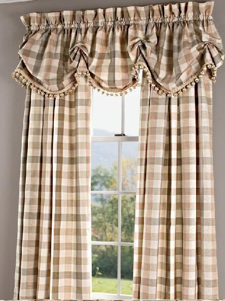 Elegant Plaid Curtains Elegant Plaid Curtain Country Curtains