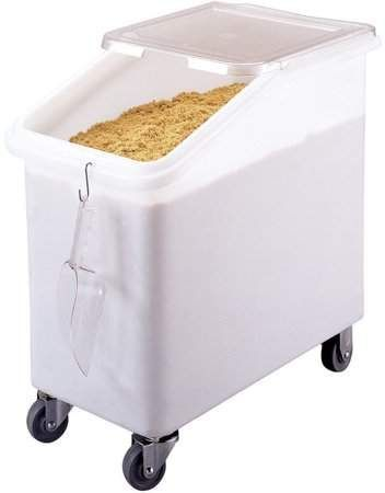 Cambro Large Storage Ingredient Bin 27 Gallon Capacity White Ibs27 148 Bulk Food Storage Containers Food Storage Containers Dry Food Storage