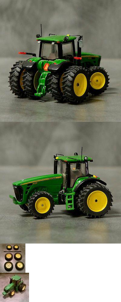 1//64 Farm custom scratch tractor 20.8R46 tire kit 6 tires yellow axle
