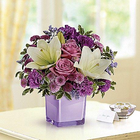 Pin By Patterson S Flowers On Purple Purple Bouquet Purple Carnations Flower Delivery