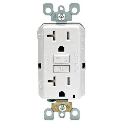 Leviton 20 Amp Gfci Outlet Home Depot Electrical Supplies Green Led