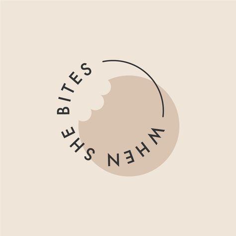 When She Bites — Food Enthusiast Social Media Logo Design