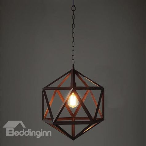Creative Clic Hexahedron Ceiling Lights For Home