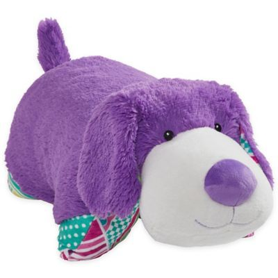 Pillow Pets Colorful Puppy Pillow Pet In Purple Animal Pillows