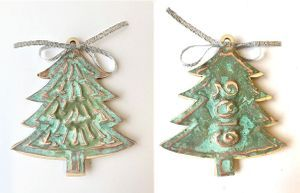 Copper Christmas Tree Ornament Craft Kit Full Instructions With Photos And Christmas Tree Ornament Kits Christmas Ornaments To Make Paper Christmas Ornaments