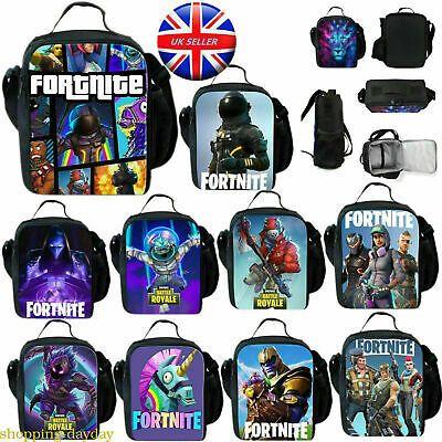 Fortnite Fort Nite Fortnight Game Lunchbox School Bag Lunch Bag Battle Royale Uk Fortnite Uk London Kids Lunch Bags School Bags For Boys School Bags