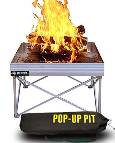 Amazon Com Campfire Defender Protect Preserve Pop Up Fire Pit Portable 24 X24 8lbs Never Rust Fire Pit Portable Fire Pits Fire Pit Fire Pit Heat Shield
