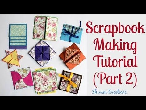 How To Make Scrapbook Pages 9 Different Cards Ideas DIY Tutorial Part Two