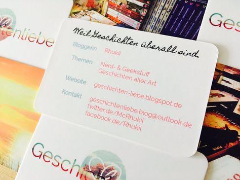 Geschichtenliebe Visitenkarten German Nerd Geek Blogs