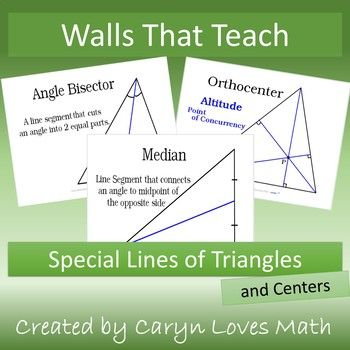 Special Lines Center Of Triangles Walls That Teach Posters