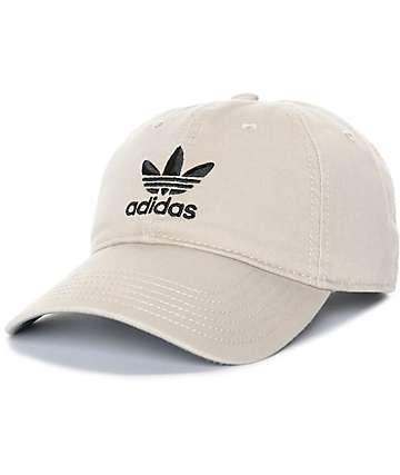 16cd18b18e1fb adidas Trefoil Curved Bill Khaki Strapback Hat