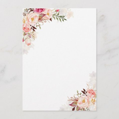 Blush Pink Floral Wedding Information Guest Enclosure Card Information#Wedding#Enclosure#Guest