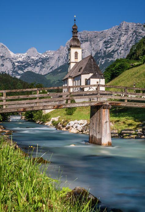 outdoormagic:  Die Kirche von Ramsau by Michael Sroka   Gorgeous Happy Photo