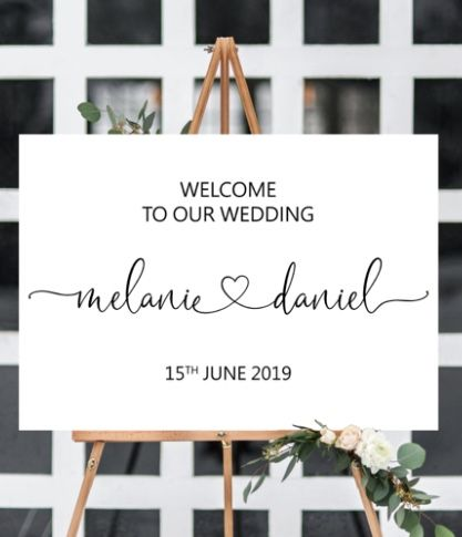 Wedding Welcome Sign Printable Elegant Welcome Wedding Signs Wedding Decorations Modern Heart Welcome To Our Wedding Sign Decor Signage W46 In 2020 Welcome To Our Wedding Wedding Welcome Signs Wedding Sign Decor