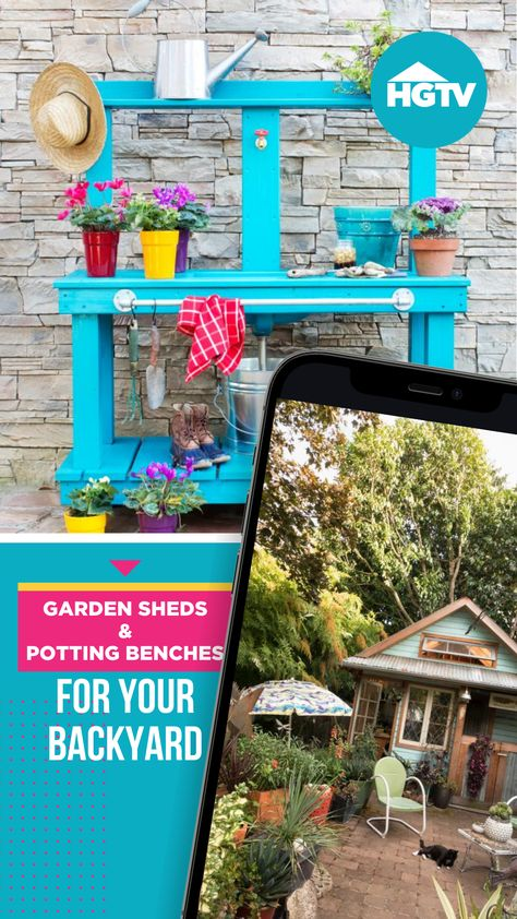 Store garden tools, off-duty muck boots and those shrubs waiting to be planted in one of these charming work areas brimming with character. 👩🌾 Trust us, your backyard will thank you.