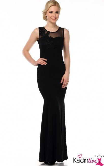 Tozlu Giyim Yakasi Aplikeli Uzun Abiye Modelleri Kadinlive Com Fashion Formal Dresses Dresses