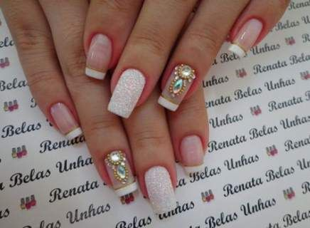 Nails Silver Acrylic Manicures 22 Best Ideas