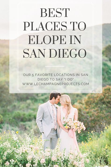 Planning an Elopement in San Diego, here are our Top 5 Places to elope! Be sure to check out our New Elopement Flower Packages, we're offering an bouquet and matching boutonniere for our couples to elope with. #sandiegoelopement #wheretoelopeinsandiego #elopmentflowers #elopeinsandiego #elopinginsandiego #sandiegoelopementflowers #sandiegoweddingflorist #elopementbouquet