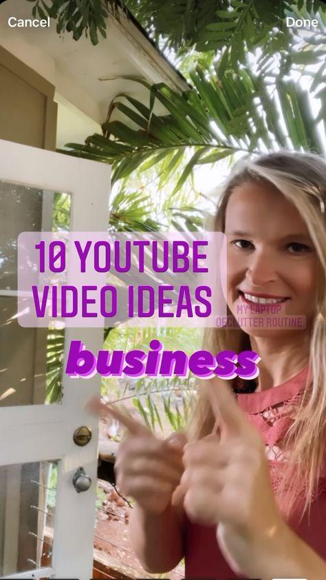 10 YouTube Video Ideas- business videos social media marketing