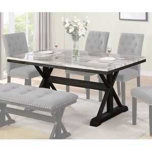 Everly Quinn Maltby Marble Dining Table In 2021 Dining Table Marble Dining Room Table Marble Marble Top Dining Table