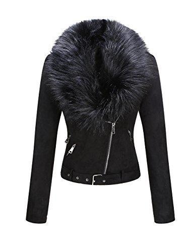 Kaitobe Womens Coat Casual Faux Fur Shearling Open Front Warm Winter Oversized Outwear Jackets Cardigan Crop Coat