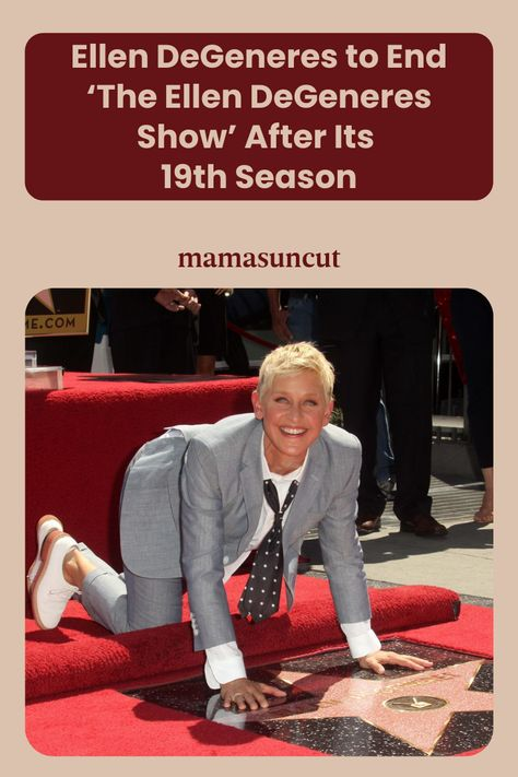 After 18 seasons, Ellen DeGeneres has announced that her 19th will be her last.