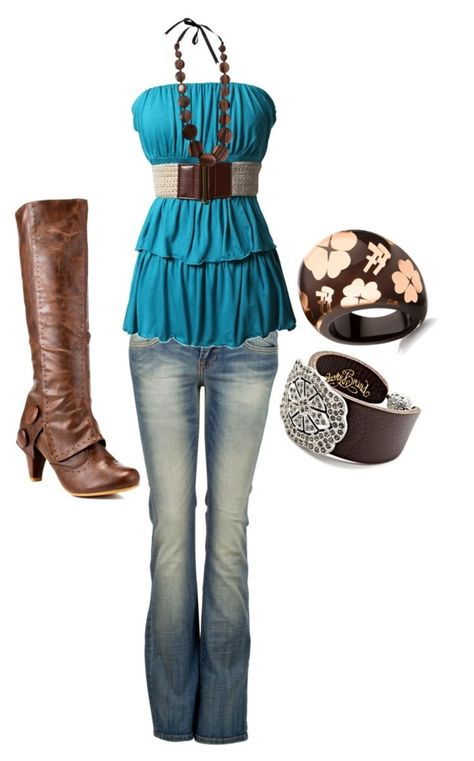 """""""teal"""" by sarah-jones-3 ❤ liked on Polyvore featuring Lucky Brand, LTB by Little Big, Not Rated, Folli Follie and Pieces"""