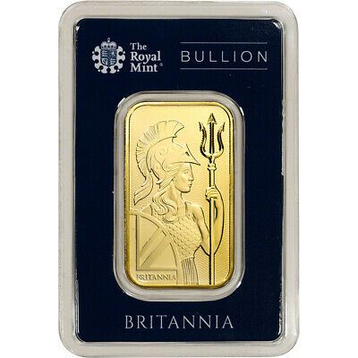 1 Oz Gold Bar Royal Mint Britannia 999 9 Fine In Assay Ebay Gold Bullion Bars Gold Bar Gold