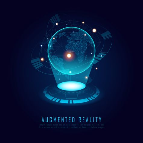 World augmented reality concept with texts, Vector illustrator
