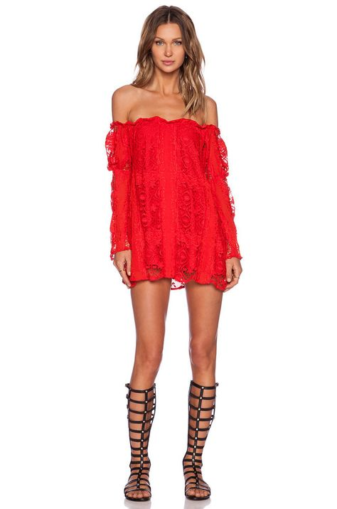ba5ee1eac7b New For Love   Lemons Women s Dress Red XS AU6 Garden Rose Lace Long Sleeve  Mini  fashion  clothing  shoes  accessories  womensclothing  dresses (ebay  link)