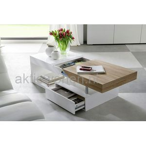 Salontafel Lade Wit.Moderne Salontafel Wit In Combinatie Met Uitschuifbaar