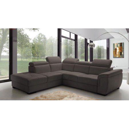 Esf Freedom Contemporary Grey Leather Sectional Sleeper Sofa Left Hand Facing Leathersectiona Leather Sectional Sofas Best Leather Sofa Sectional Sleeper Sofa
