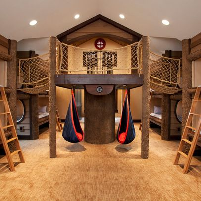 These 26 Crazy Kids Rooms Will Make You Want To Redecorate Immediately Treehouse Room Ideas And Plays