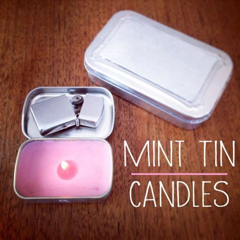 DIY mint tin travel candles. You can bring them with you wherever you go!