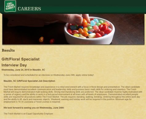 Mauldin, SC Employment Gift-Floral Specialist Job Opening