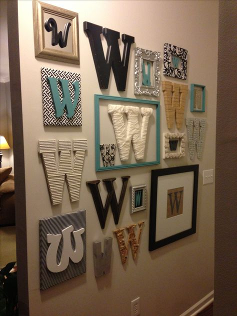 Stylish, Monogrammed Wall Decor